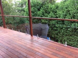 Sydney semi frameless glass balustrade in West pennant hills