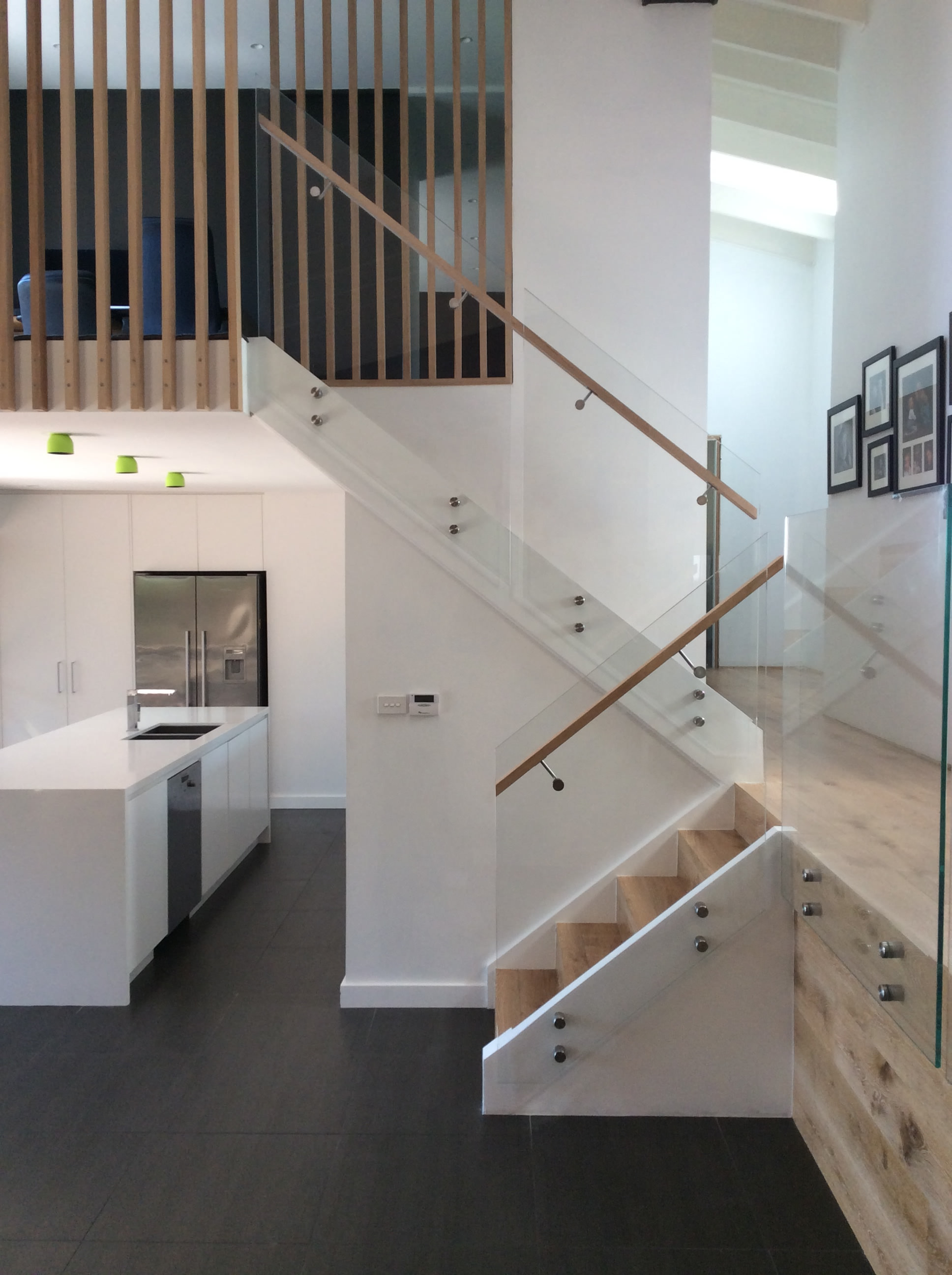 Frameless Glass Internal Balustrade Staircase Castle Hill