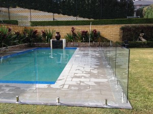 frameless-glass-pool-fence-with-core-drilled-West-Pennant-Hills-New-South-Wales
