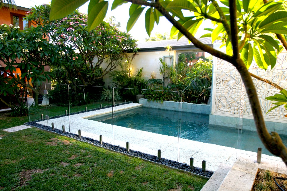 Frameless Pool Fencing with Gate, Kiama, NSW South Coast