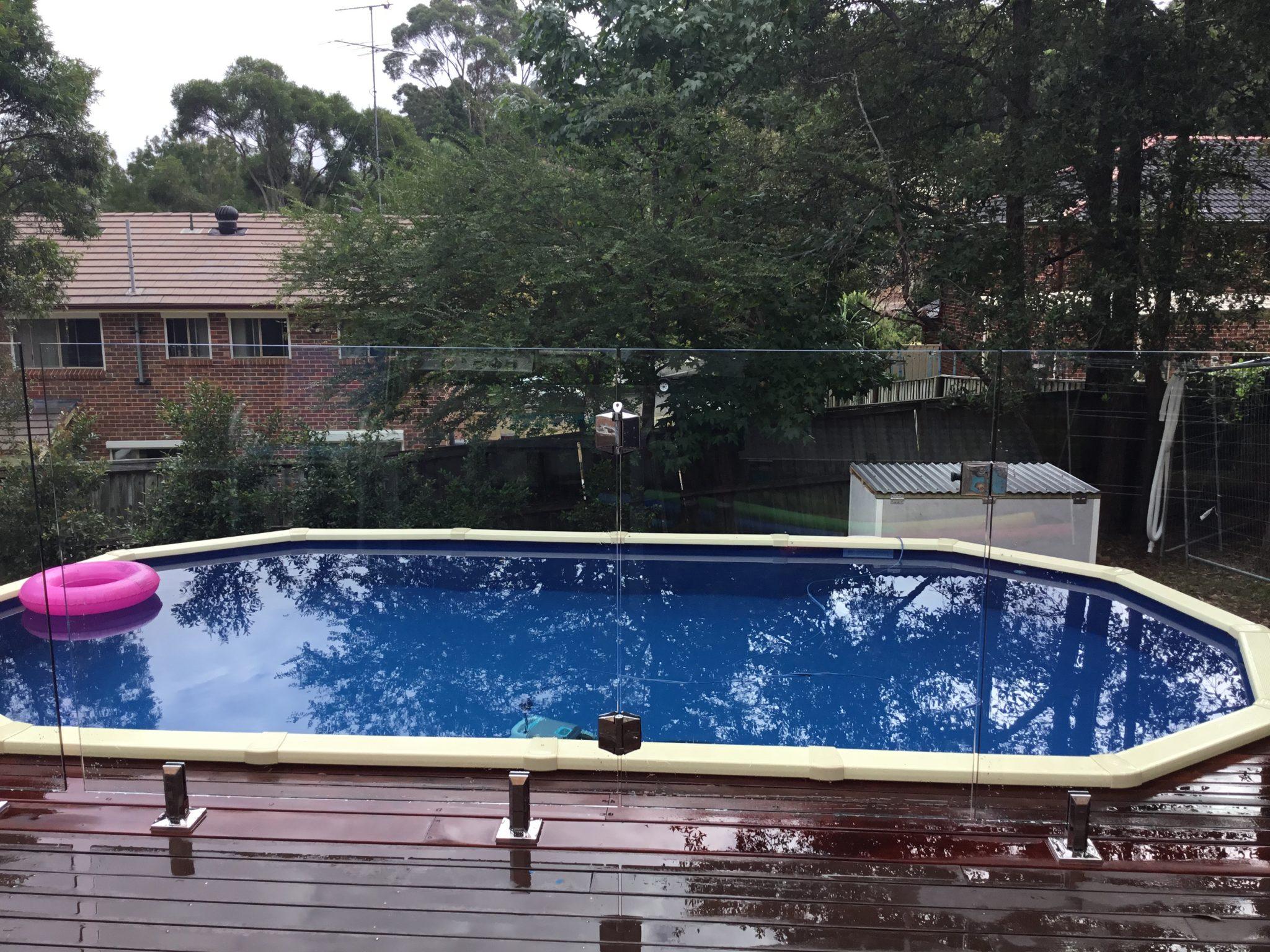 Frameless Glass Pool Fence Castle Hill